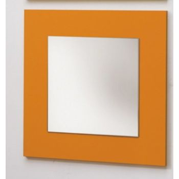 Specchiera design Betany per arredo soggiorno in legno 70 x 70 cm