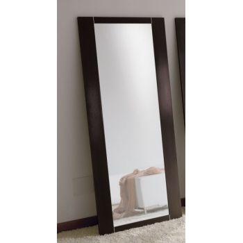 Specchiera da terra Glimpse in legno Bianco o Wenghè 74 x 170 cm