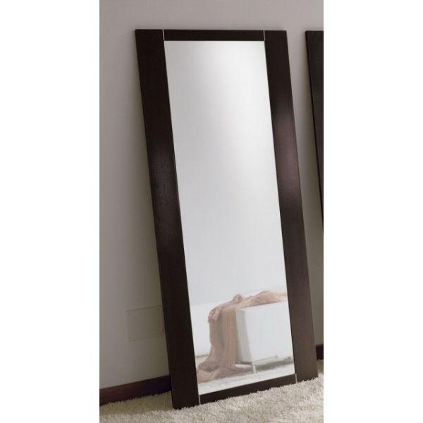 Specchiera da terra glimpse in legno bianco o wengh 74 x - Specchio da terra economico ...