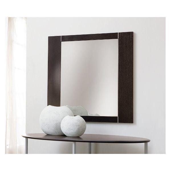 Specchio da parete Glimpse per soggiorno in legno 74 x 74 cm