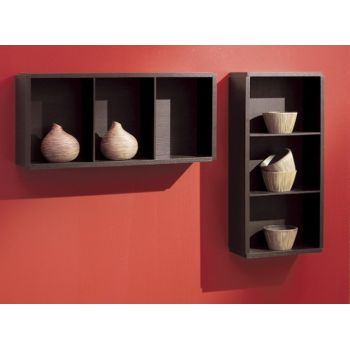 Teca moderna Show Me in legno Wenghè o Bianco 35 x 80 cm