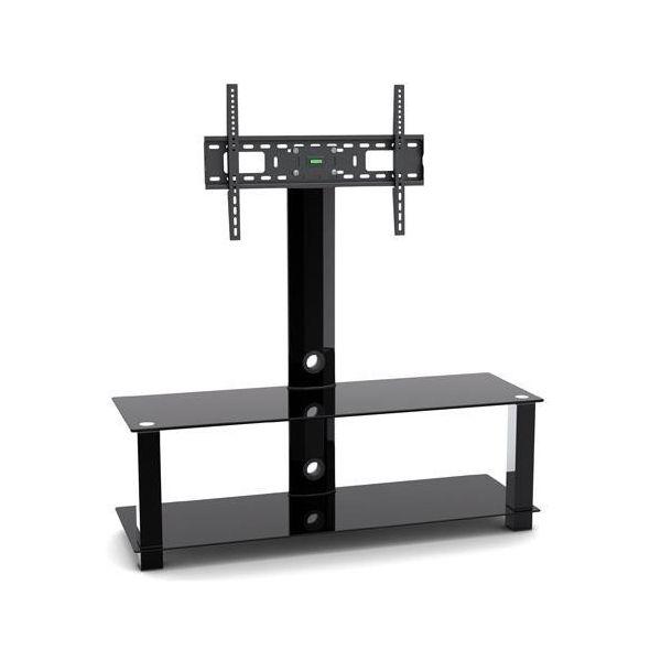 Mobile FISSO porta TV HOOK con staffa girevole 360 gradi in metallo ...