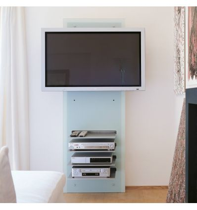 Mobile porta tv da parete wall v in vetro design moderno - Mobile tv cartongesso ...