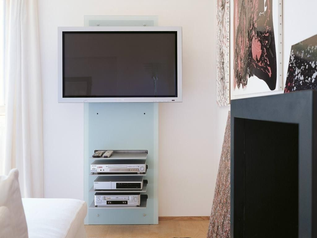 Mobile porta tv da parete william in vetro design moderno for Parete porta tv