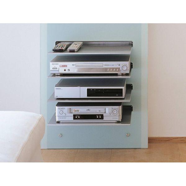 Mobile porta tv design da parete wall v in cristallo con - Mobile parete porta tv ...