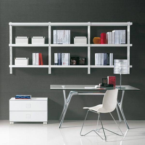Jaxon libreria scaffale pensile in acciaio componibile 245 x H106 cm