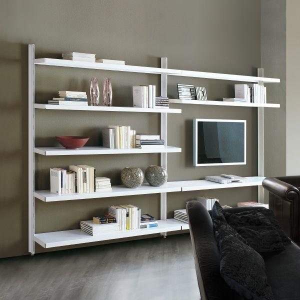 Vidar libreria a giorno in acciaio design moderno 325 x 32 x 203 cm