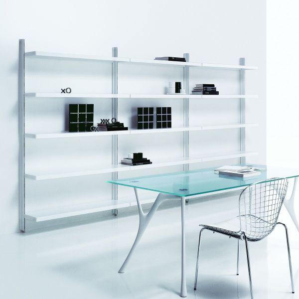 Antero libreria scaffale in acciaio casa ufficio 365 x 32 x 203 cm