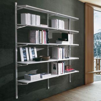 Libreria per ufficio Socrate 39 design in acciaio 196x196 cm