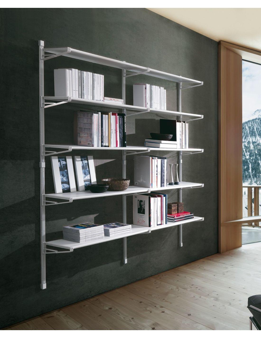 Marius libreria per ufficio design in acciaio 196x196 cm for Scaffali per ufficio