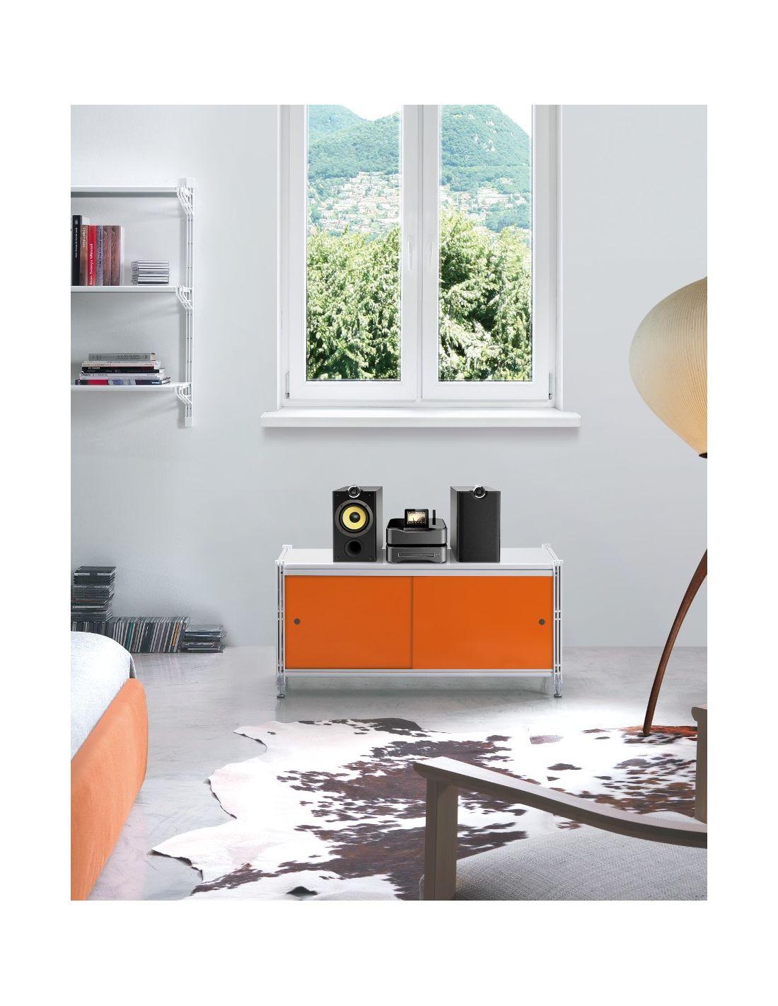 Astryd scaffale per ufficio design in acciaio 100x47 cm for Scaffali per ufficio acciaio
