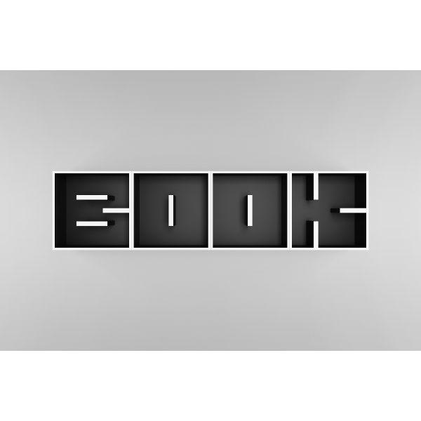 ABC BOOK libreria da parete a forma di lettere 204 X 51 cm