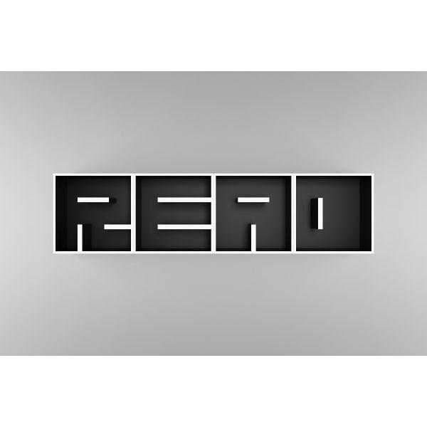 ABC READ libreria da parete a lettere in legno laminato 204 X 51 cm