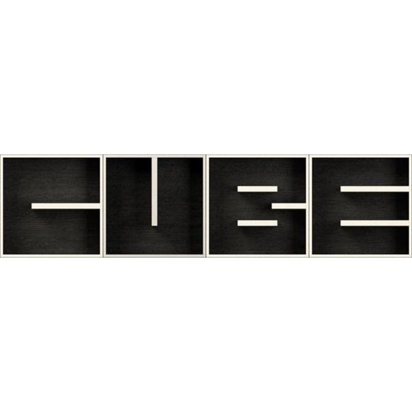 ABC CUBE libreria componibile a lettere in laminato 204 X 51 cm