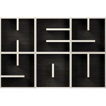 ABC HEY YOU libreria modulare a cubi lettere alfabeto 153 X 102 cm