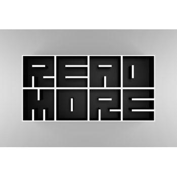 ABC READ MORE libreria da parete a cubi lettere alfabeto 204 X 102 cm