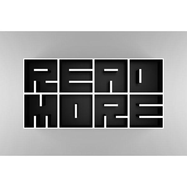 Libreria a cubi da parete con lettere alfabeto ABC READ MORE