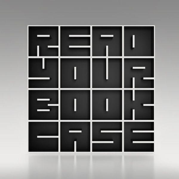 Libreria a cubi da terra o da parete con lettere alfabeto ABC RYBC