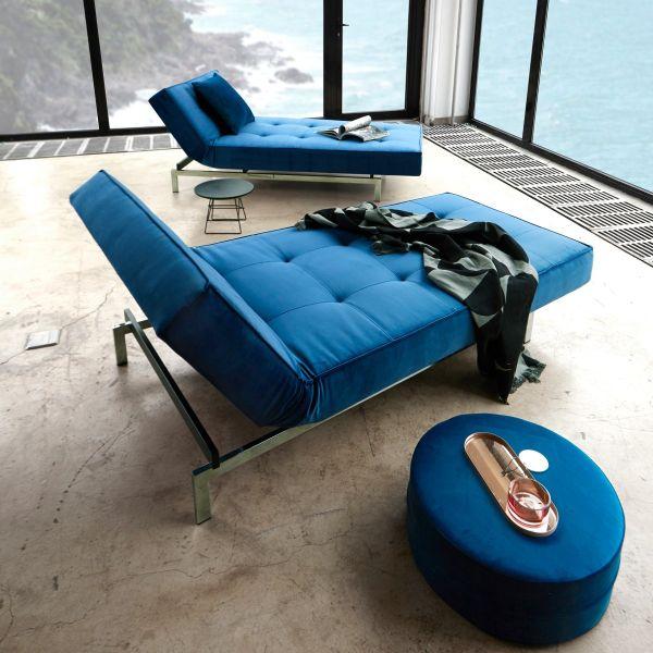 Chaise longue Splitback Lounger lettino con materasso a molle design