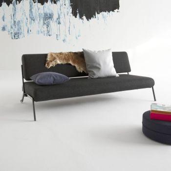 Divano letto Debonair con ruote design scandinavo in tessuto