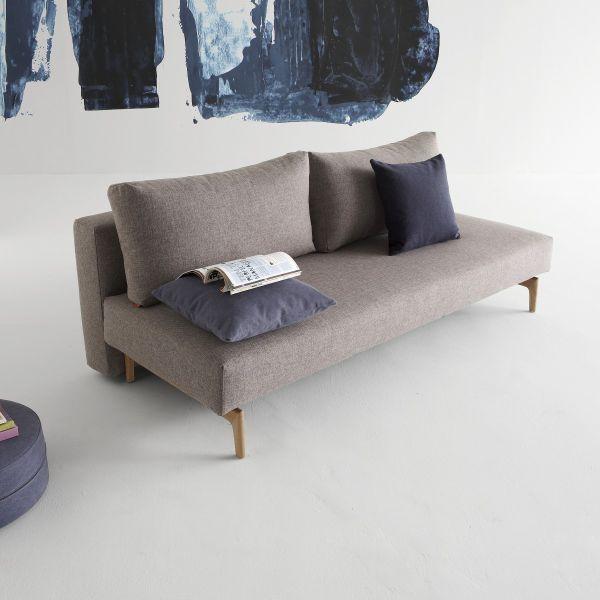 Divano letto Trym a due posti design moderno in tessuto 200 cm