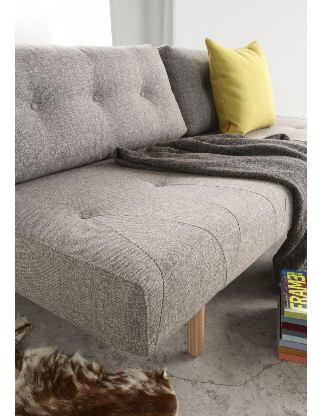 Divano letto rhomb matrimoniale in tessuto design moderno 200 cm - Divano letto per dormire tutte le notti ...