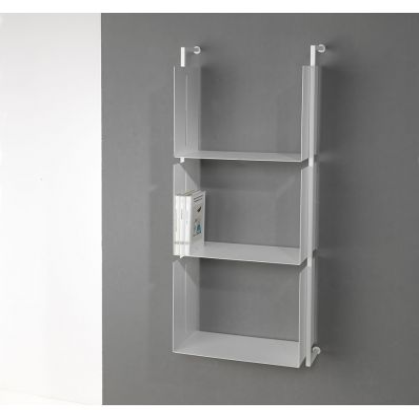 Scaffale verticale Libra18 in acciaio tubolare 48 x 119 cm