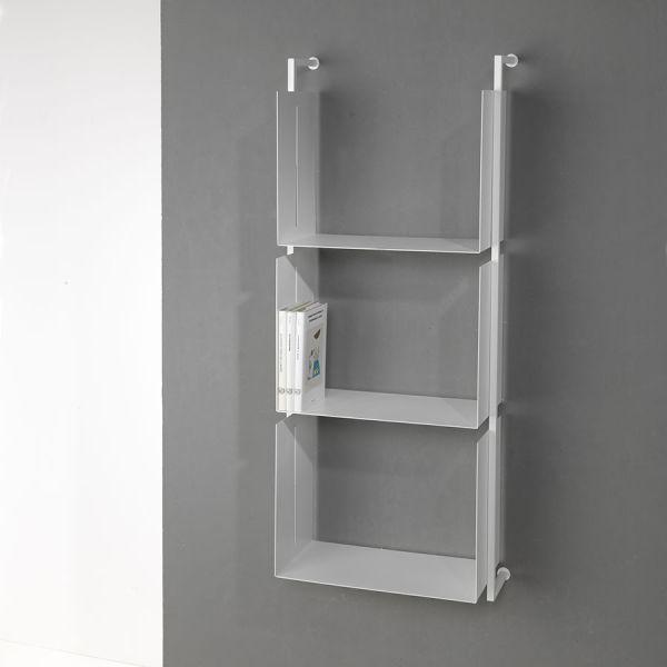 Scaffale verticale a parete in acciaio tubolare Libra18