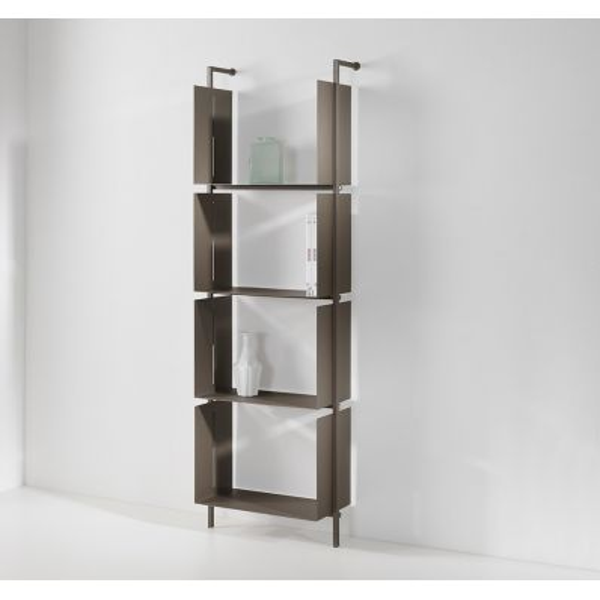 Libreria verticale a parete in acciaio design moderno Libra19