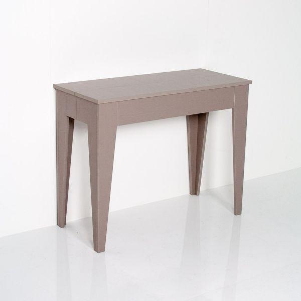 Consolle trasformabile Kea in legno Bianco o Tortora fino a 3 metri
