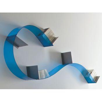 Libreria Adam 2 flessibile e componibile a muro in plexiglass 4 moduli