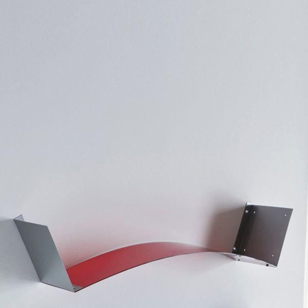 Coppia mensole Adam da parete flessibili e componibili in plexiglass