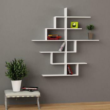 Durban libreria da parete mensole in legno 150 x 150 cm