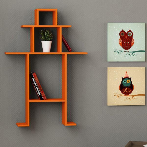 Lilliput mensola in legno design per soggiorno camera 84 x 120 cm