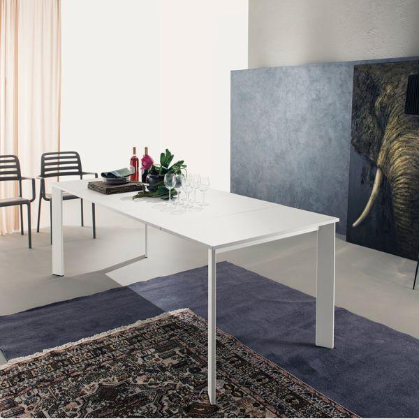 Tavolo allungabile Manning per sala pranzo in metallo e legno 310 cm