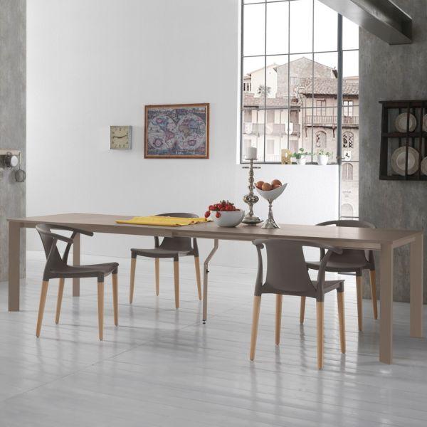Dalby tavolo da pranzo allungabile in legno e metallo fino a 310 cm