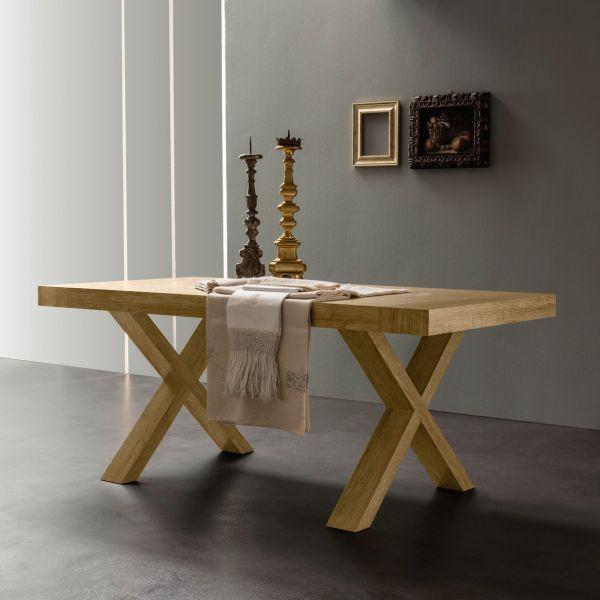 tavolo allungabile rustico bianco o rovere naturale fino a 280 cm