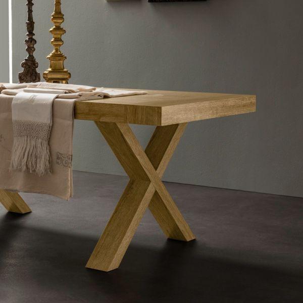 SOMEDAY tavolo da PRANZO allungabile rustico bianco o rovere ...