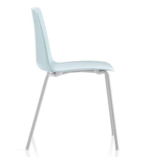 Vesper 1 sedia impilabile in metallo e plastica per interni o esterni