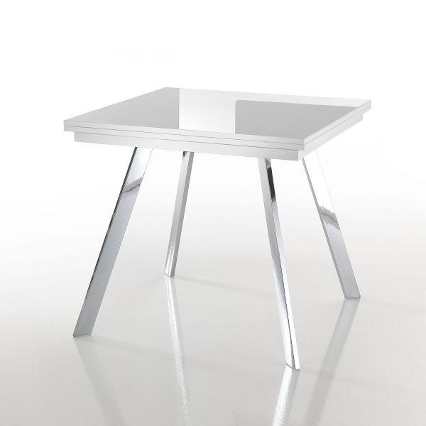 Tavolo Dabol raddoppiabile a libro gambe in metallo piano in MDF fino a 170 cm