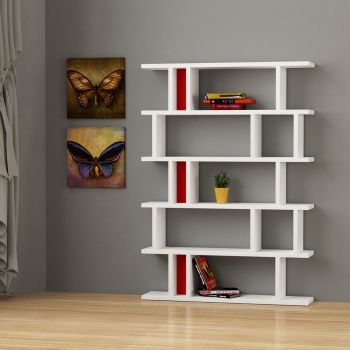 Kendal libreria per soggiorno moderna in legno 140 x 170 cm