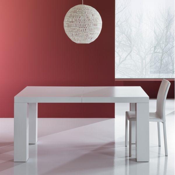 Tavolo allungabile in legno MDF bianco opaco 250 cm Aphex