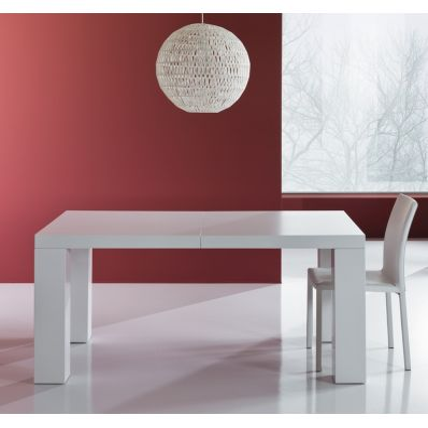 Tavolo Aphex allungabile in legno MDF bianco opaco fino a 250 cm
