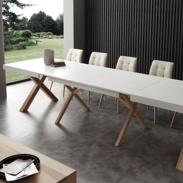 Tavolo da pranzo allungabile 360 cm in massello di frassino Drammen