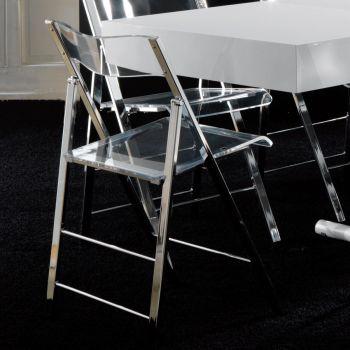 Sedie pieghevoli salvaspazio per sala da pranzo piccoli - Sedia pieghevole trasparente ...