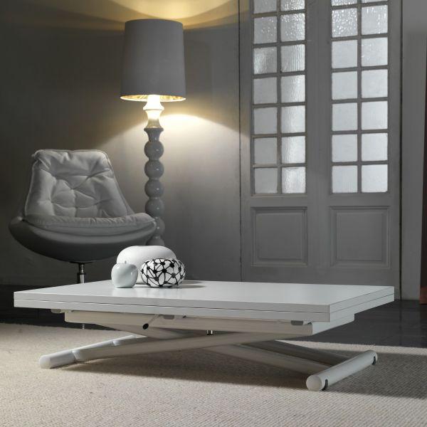 Tavolino da salotto trasformabile in tavolo da pranzo 110x140 cm Mind