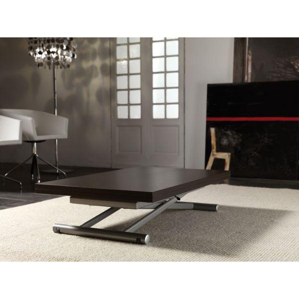 Mind tavolino design da salotto trasformabile in tavolo sala pranzo 110x140 cm ebay - Tavolino che diventa tavolo da pranzo ...