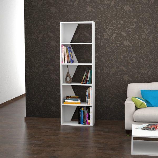 Styley libreria vertcale da parete per soggiorno in legno