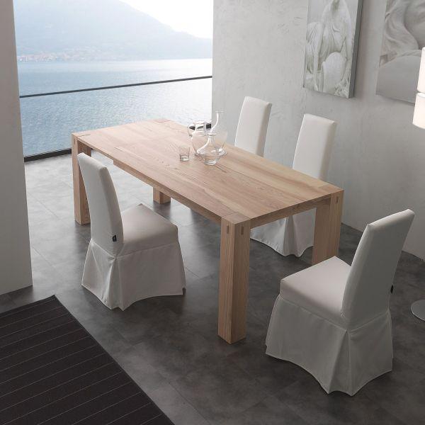 tavolo da pranzo allungabile in legno massello fino a 260 cm