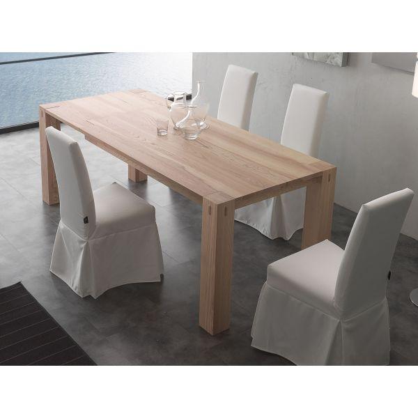 Tavolo Da Pranzo In Legno Naturale.Dettagli Su Woods Tavolo Da Pranzo Design Allungabile In Legno Massello Frassino 260 Cm